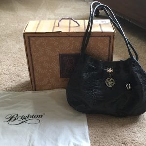 💝 Brighton Belclaire Navy Croc Leather purse